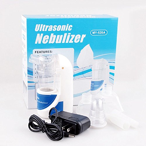 simply silver - Portable Ultrasonic Nebulizer Handheld Nebuliser Respirator Humidifier adult kit