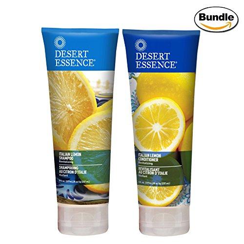 Desert Essence Italian Lemon Shampoo & Conditioner Bundle - 8 fl oz ea