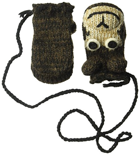 Nirvanna Designs MTCHEET Monkey Puppet Mittens, Brown, (Monkey Wool Mittens)