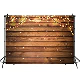 Mehofoto Christmas Day Backdrop Vintage Wood Photo Background for Newborn Christmas Lights Decoration Photography Backdrops for Children Kids 7x5
