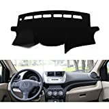 FLY5D DashMat Car Carpet Dashboard Sun Cover Pad Dash Mat for SUZUKI New ALTO 2009-2013 (SUZUKI New ALTO , Black)
