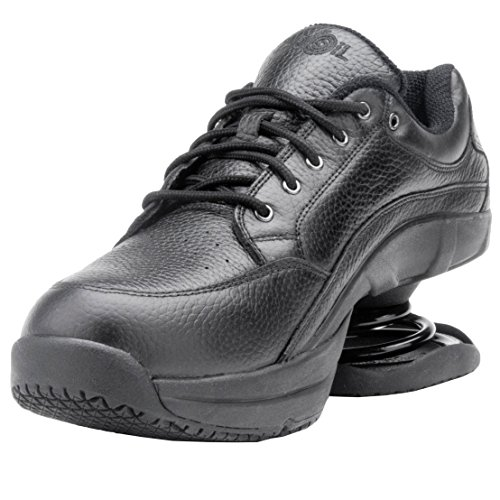 Z-CoiL-Pain-Relief-Footwear-Mens-Legend-Slip-Resistant-Black-Leather-Tennis-Shoe