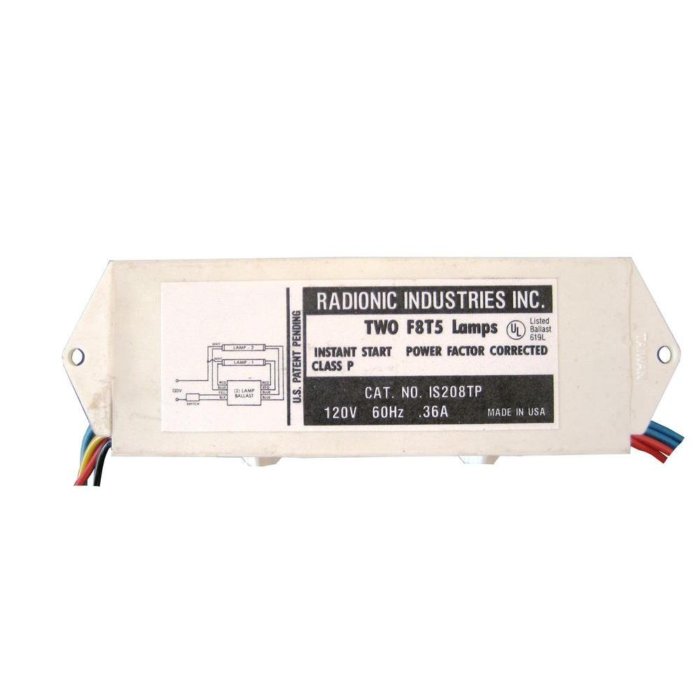Radionic Hi Tech Inc IS208TP 8-Watt T5 Lamp Normal Power Factor Magnetic Ballast