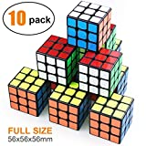 Full Size 3×3 Cube Set,Puzzle Party Toy, Eco-Friendly Material with Vivid Colors,Party Favor School Supplies Puzzle Game Set for Kids and Adults(10 Pack)