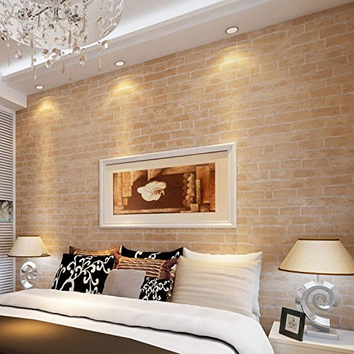Dtemple Wallpaper 10m Non Woven 3d Brick Locks Rolls Wallpaper Room