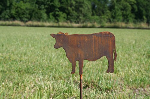 (Metal Cow Garden Stake Small Size)