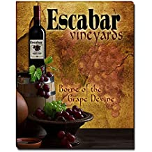 Escabar's Vineyards Grapes Wine Gallery Wrapped Canvas Print