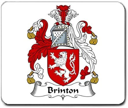 Brinton Family Crest Coat of Arms Mouse Pad