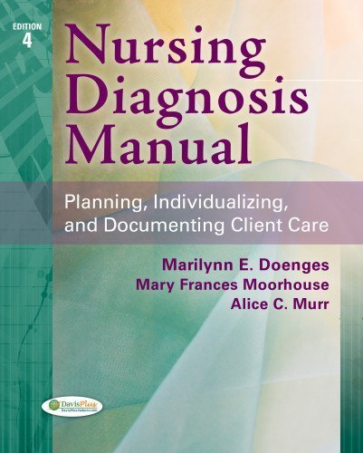 Nursing Diagnosis Manual: Planning, Individualizing, and Documenting Client Care 4th Edition by Doenges APRN BC-retired, Marilynn E., Moorhouse RN MSN CR (2013) Paperback
