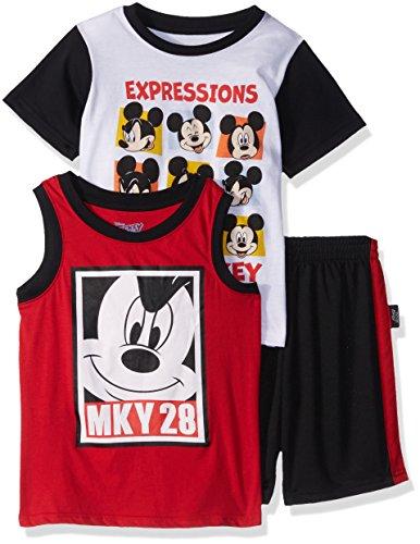 Disney Boys Toddler Mickey 3 Piece Short Set