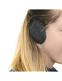 Sprigs Earbags Bandless Ear Warmers/Fleece Earmuffs with Thinsulate - Charcoal, Large