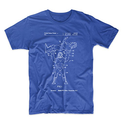 Hulk Hogan Wrestling Action Figure Patent T Shirt by PatentPrints