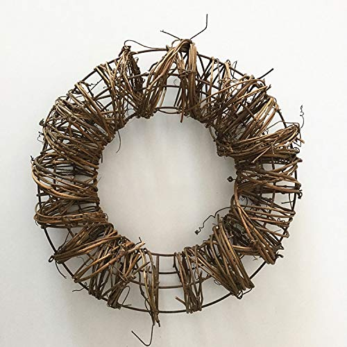 PatyHoll 1Pc /Lot New Christmas Natural Grapevine Twig Wreath Garland for Home Decoration DIY Accessories