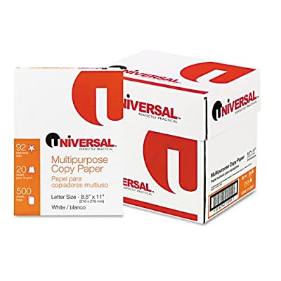 Universal : Copy Paper Convenience Carton, 92 Brightness, 20lb, Letter, White, 2,500 Sheets -:- Sold as 2 Packs of - 5 - / - Total of 10 Each