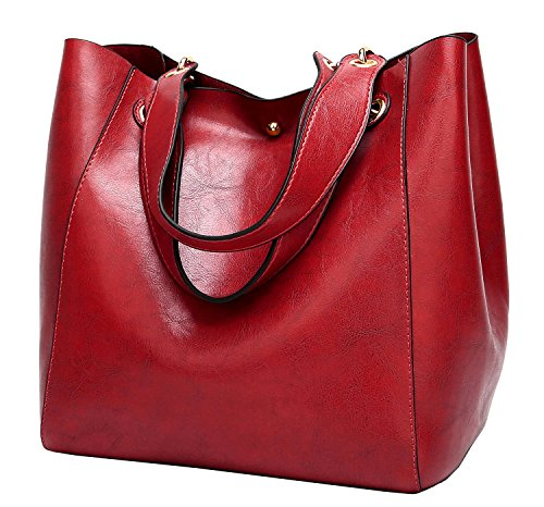 Halemet Womens Satchel Hobo Top Handle Tote Leather Handbag Designer Shoulder Purse Bucket Crossbody Bag