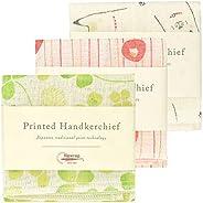 Nawrap Printed Handkerchief Set of 3, Animal, Poppy & Cl