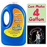 54 Ounce Concentrated Bubble Solution Refill(Can Make 4 Gallon), Big Bottle for Jumbo Giant Bubble Soap Bubble Wand Blower Machine Gun Maker, Bath Time, Summer Outdoor Gift for Girl Boy Kid Child