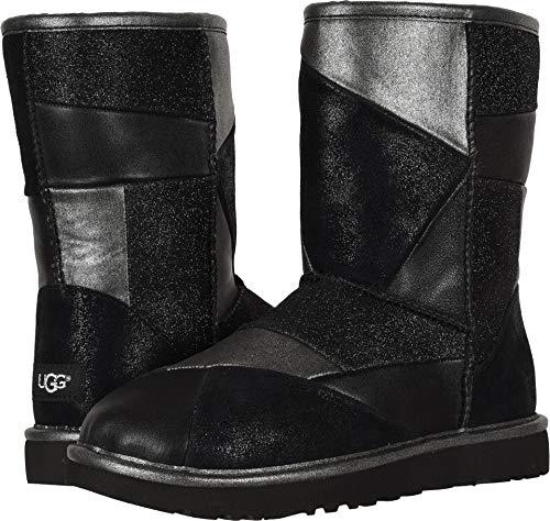 UGG Women's W Classic Glitter Patchwork Fashion Boot Black 6 M US