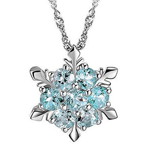 Baqijian Charming Jewelry Natural Temperament Zircon Snowflake Shaped Pendant Necklace 2 Colors Nl-0945 Lb -