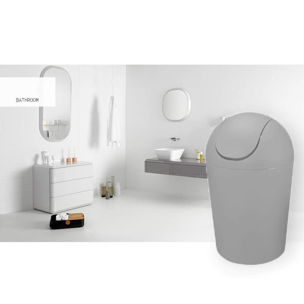 LIUFS Cubo de Basura Set de Inodoro para el Cubierta hogar Jabonera Cubierta el con Papel higiénico (Color : Gris, Tamaño : L) dfec9b