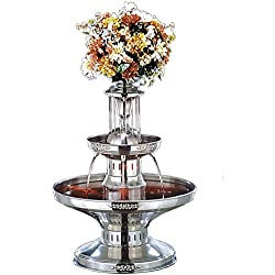 Buffet Enhancements Deluxe Stainless Steel Champagne Fountain - Silver Trim, 21 x 21 x 29 inch -- 1 each.
