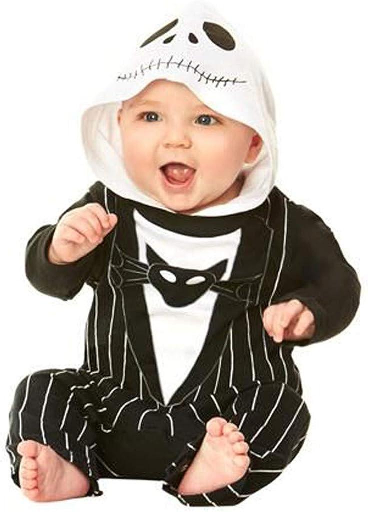 0-2Years,SO-buts Newborn Baby Boys Print Bat Demon Halloween Hooded Romper Jumpsuit Costume,Baby Romper Winter
