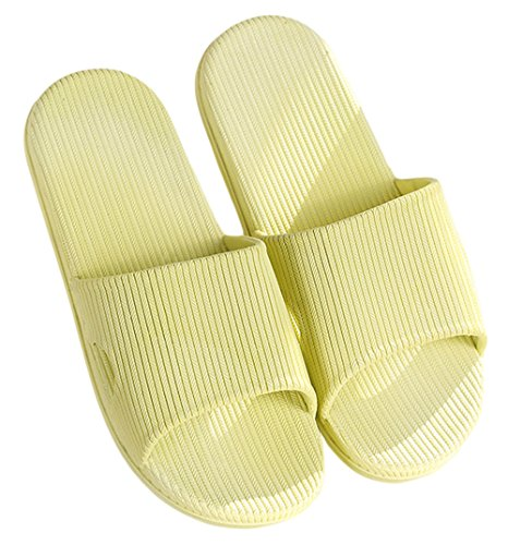 Bath Green Resistant Simple Knolee Sole Rubber Slippers Yellow Unisex Slip Indoor Shoes aqnwBgZC