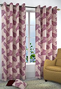 Homefab India Candy 2 Piece Eyelet Polyester Long Door Curtains - 8ft