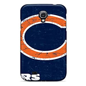 Galaxy S4 Hard Back With Bumper Silicone Gel Tpu Case Cover Chicago Bears