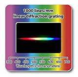 Rainbow Symphony Diffraction Gratings Slides - Linear 1000 Line millimeters Package of 10