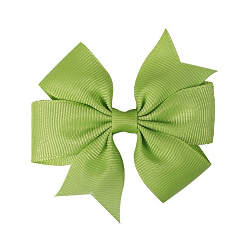 5Pcs/Lot 3 Inch Solid Grosgrain Ribbon Bows Hair Clip Girls' Boutique Pinwheel Hairgrips Kids Hair Accessories 30
