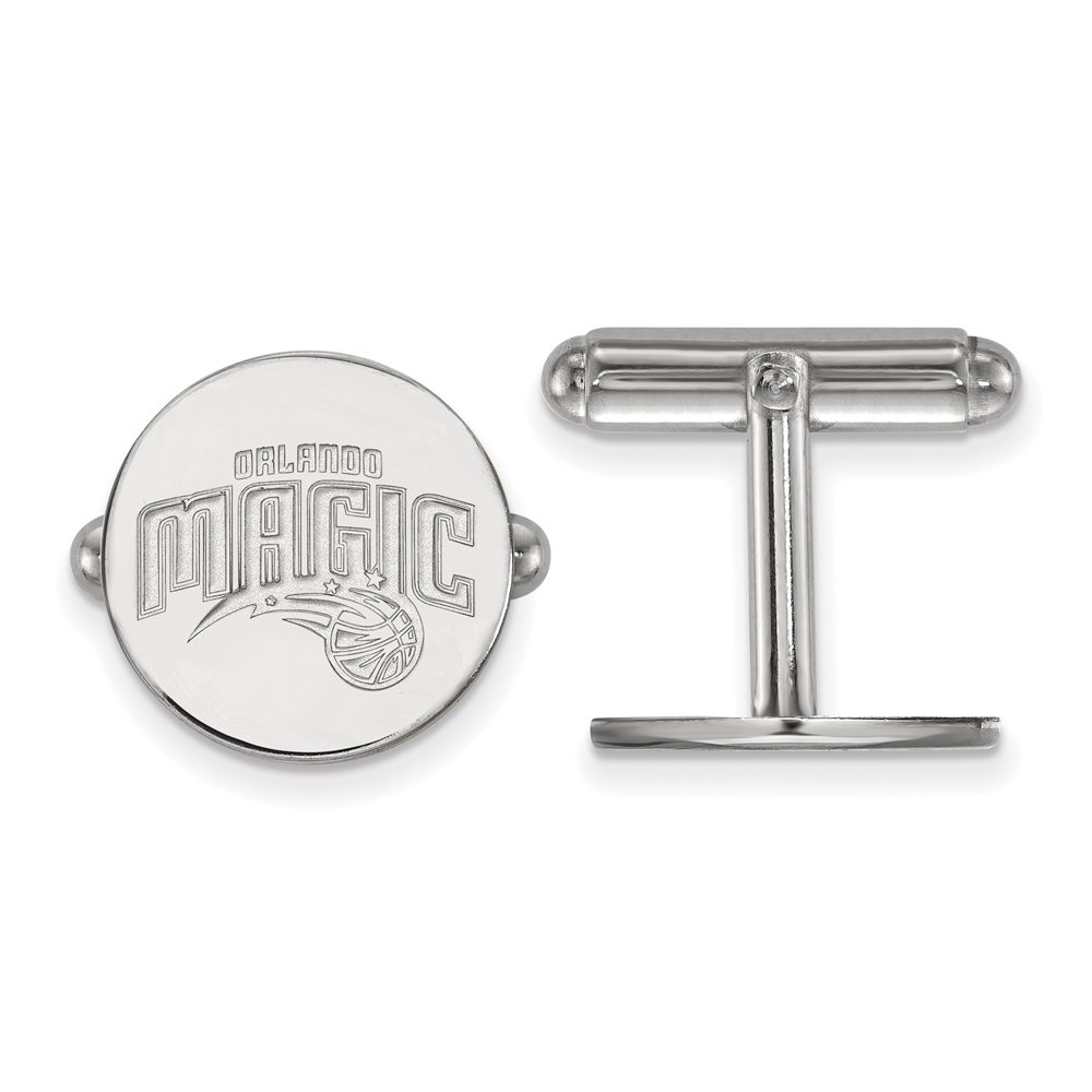 NBA Orlando Magic Cuff Links in Rhodium Plated Sterling Silver