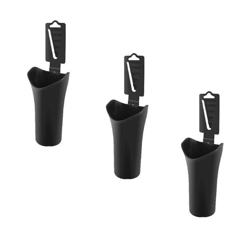 BRUIO Hangable Vehicle Car Umbrella Sundries Bucket Garbage Trash Can Plastic Multifunction 3PCS