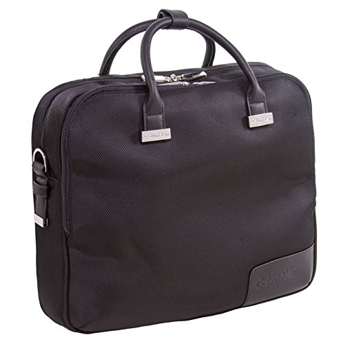 Calvin Klein Dylan Case Laptop Briefcase, Black, One Size by Calvin Klein