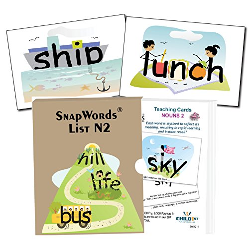 Snapwords Nouns 2 Teaching Sight Word (Picture Noun Cards)