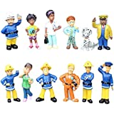 Fireman Sam Action figure Toys Cute Cartoon PVC Dolls 12 pieces