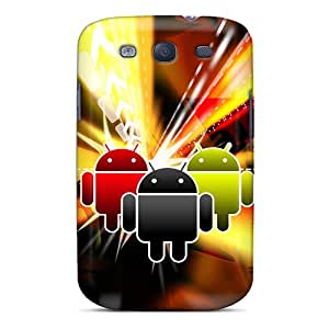 TiffanyLCarver Snap On Hard Case Cover Android Logo 3 Protector For Galaxy S3