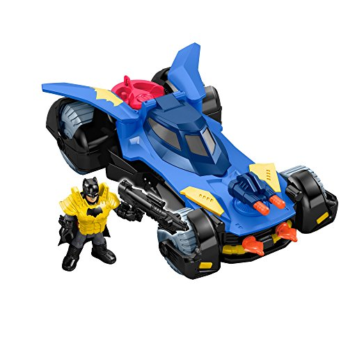 Fisher-Price Imaginext DC Super Friends, Batmobile, Pack of  1 (Best Batman Toy For 3 Year Old)