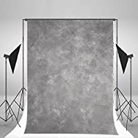 Laeacco Design 5x7ft Vinyl Photography Backdrops Solid Color Blurry Gray Theme Personal Portraits Photo Background ,1.5x2.2m Studio Props