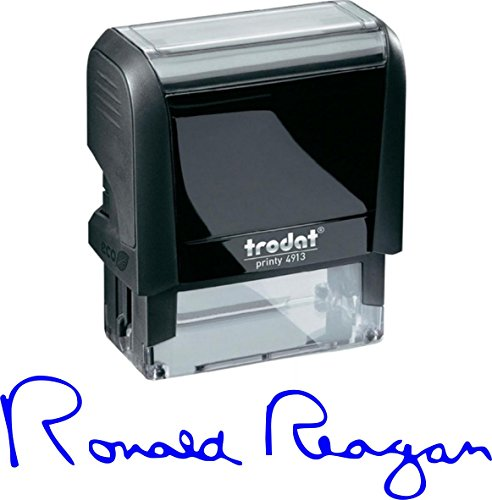 Signature Stamp - Personalized Self-Inking Signature Stamps - Custom Signature Stamp (Blue Ink)