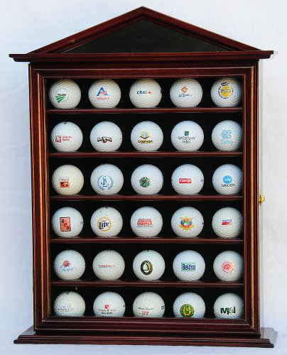 30 Golf Ball Designer Display Case Cabinet Holder Wall Rack - Ball Case Display Glass Golf