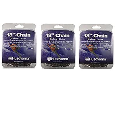 """Set of 3 Husqvarna 18"""" Chainsaw Chain H30-72 95VP .325"""" .050"""