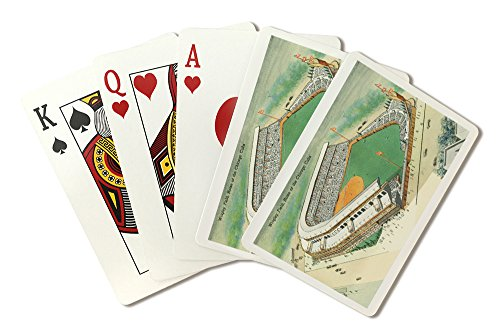 (Chicago, Illinois - Aerial View of Wrigley Field # 3 (Playing Card Deck - 52 Card Poker Size with Jokers))