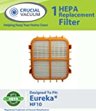 Eureka HF10 HEPA Filter Fits Eureka HF10, HF-10 Upright Vacuum Cleaner; Compare to Eureka part # 63347, Upright, Boss Capture, Pet Lover Vacuum cleaners, 63347A, 633489, 67810-2, H14017, 63358; Designed and Engineered By Crucial Vacuum, Appliances for Home