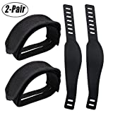 Fansport 2 Pairs Pedal Straps Exercise Bike Straps Plastic Nylon Bicycle Feet Straps for Fixed Gear Bike