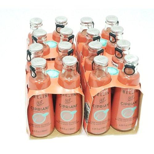 Cipriani White Peach Virgin Bellini Mix 4 -6.09 fl oz (Pack of 4)