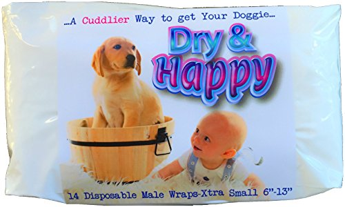 dry-happy-14-count-extra-small-disposable-male-dog-wraps-for-marking-urinary-incontinence-and-excita
