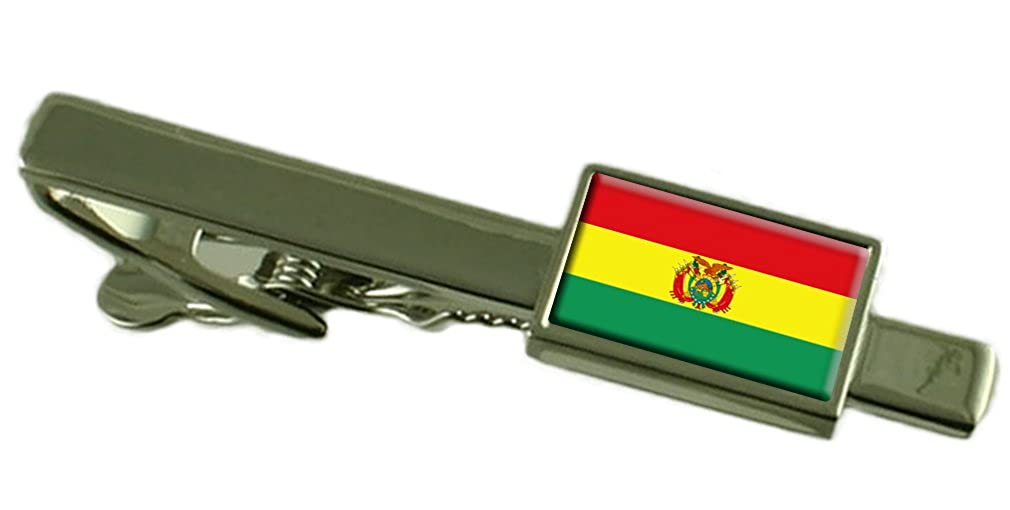 Select Gifts Bolivia Flag Tie Clip Bar 55mm Pouch