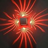 Yaojiaju 3W LED Wall Light Aluminum Wall Sconce Decoration Lamp For Aisle Bedroom Corridor Porch KTV BAR AC85-265V (Color : Red)