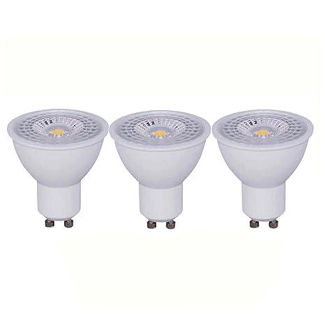 Bombillas LED GU10 7W COB 590 Lumen Equivalentes a 50 W Pack de 3 Unidades (